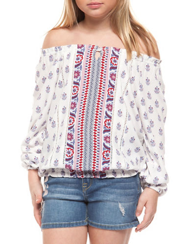 Dex Printed Off-the-Shoulder Top-RED/WHITE-10