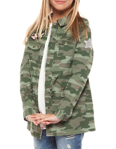 Dex Camo-Print Drawstring Jacket-SPRING CAMO-Medium