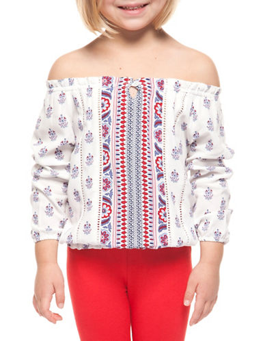 Dex Printed Off-the-Shoulder Top-RED/WHITE-5