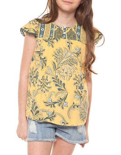 Dex Cap-Sleeve Printed Top 89882703