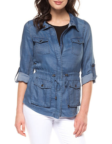 Dex Denim Cargo Jacket-BLUE-X-Small 90076128_BLUE_X-Small