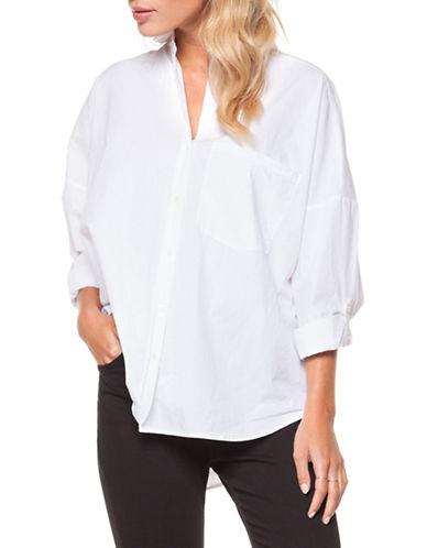 Dex Roll-Up Cotton Button-Down Shirt-WHITE-Medium