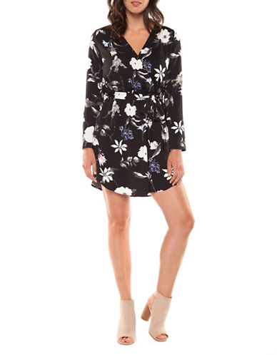 Dex Printed Wrap Dress-FLORAL-X-Small