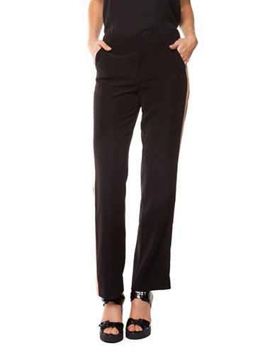 Dex Straight Leg Pants-BLACK-X-Small