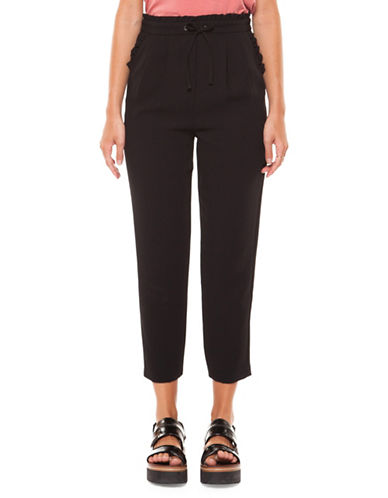 Dex Tapered Cropped Pants-BLACK-Small 89910688_BLACK_Small