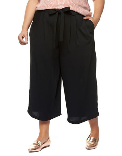 Dex Plus Pleated Pull-On Pants-BLACK-2X
