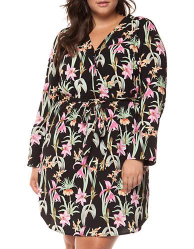 Dex Plus Floral Bell-Sleeve Wrap Dress 90056740