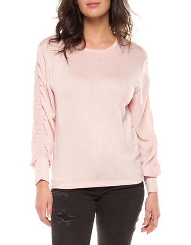 Dex Long-Sleeve Round Neck Top-PINK-X-Small 89910785_PINK_X-Small