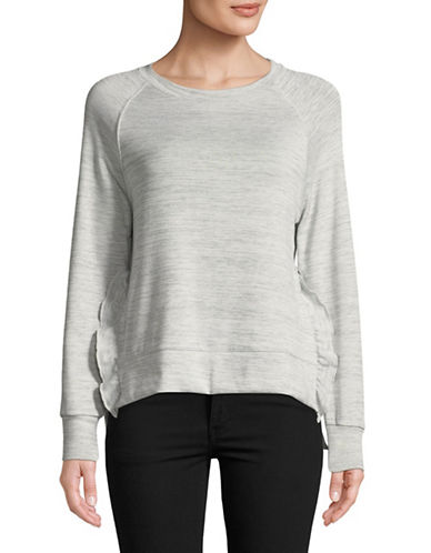 Dex Ruffled Long-Sleeve Top-GREY-X-Small