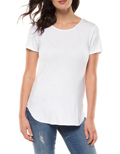 Dex Basic Scoop neck Tee-WHITE-Large 90011715_WHITE_Large