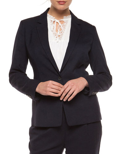 Dex One-Button Blazer-NAVY-Small