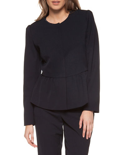 Dex Peplum Hem Jacket-NAVY-Large