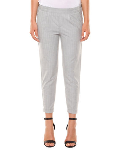 Dex Pull-On Cuffed Ankle Pants-GREY-Medium