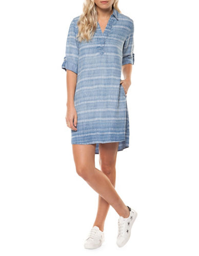 Printed Tunic Shirtdress by Dex
