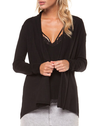 Dex Long-Sleeve Open Front Cardigan-BLACK-Small 90004567_BLACK_Small