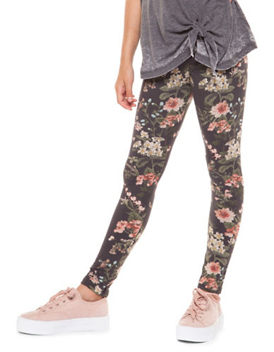 Dex Printed Stretch Leggings-CAMO FLORAL-Medium