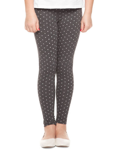 Dex Printed Stretch Leggings-CHARCOAL-Medium