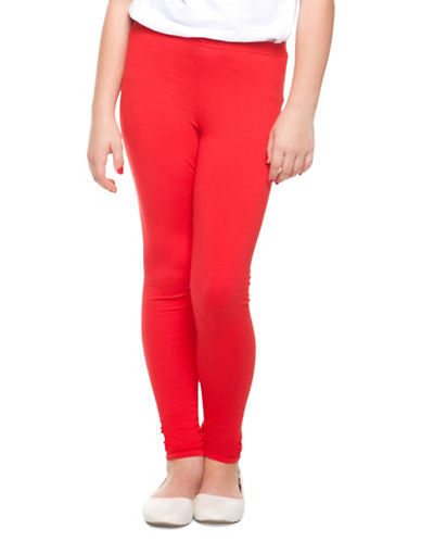 Dex Classic Stretch Leggings-RED-7-8