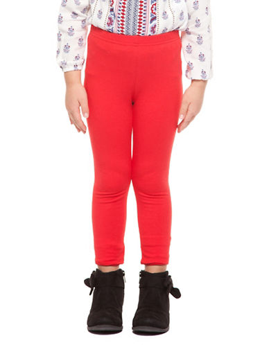 Dex Basic Knit Leggings-RED-4
