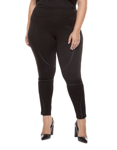 Dex Plus Plus Classic Pull-On Leggings-BLACK-0X