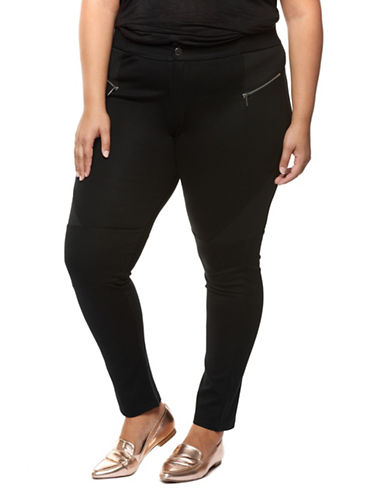 Dex Plus Plus Slim Moto Pants-BLACK-0X
