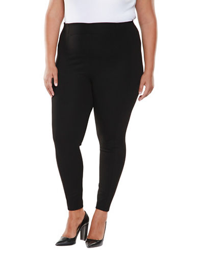 Dex Plus Fitted Pull-On Pants-BLACK-3X