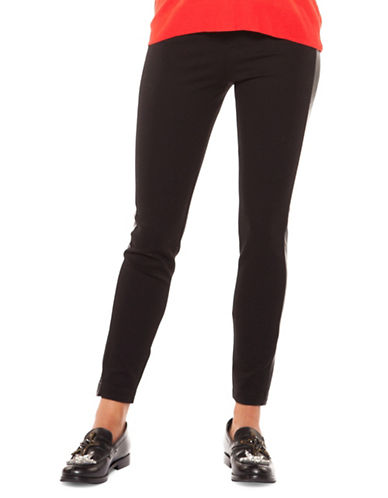 Dex Stripe Panel Leggings-BLACK-Medium
