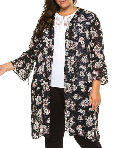 Dex Plus Long-Sleeve Printed Kimono Cardigan-ASSORTED-3X