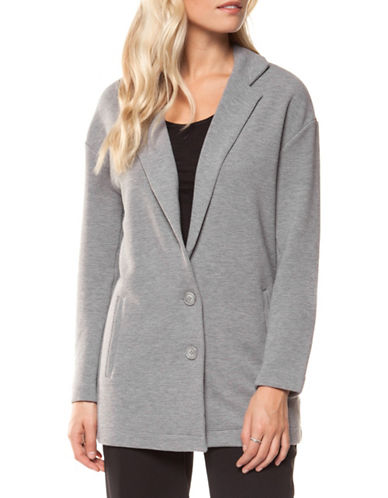 Dex Heathered Two-Button Jacket-GREY-Large
