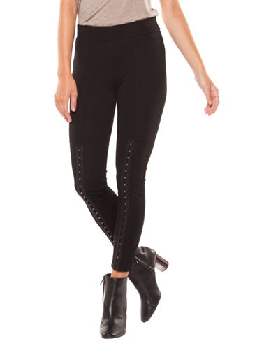 Dex Slit Hook Leggings-BLACK-X-Small