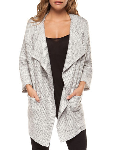 Dex Open Front Cardigan-GREY-Medium