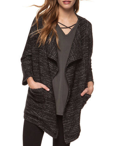 Dex Open Front Cardigan-BLACK-Large