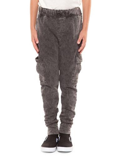 Dex Drawstring Pull-On Pants-BLACK WASH-Large