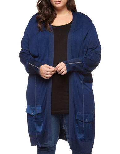 Dex Open Front Zip Long Cardigan 90042853