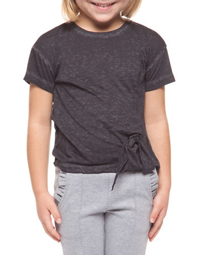 Dex Short-Sleeve Side Tie Tee-GREY-6X