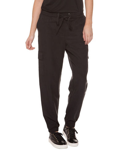 Dex Tie-Waist Jogger Pants-BLACK-Small 89910679_BLACK_Small