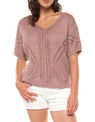 Dex Open Stitch Top-MAUVE-Large