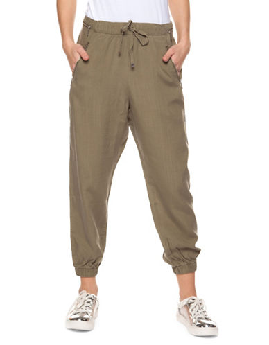Dex Pull-On Capri Jogger Pants-OLIVE-Large