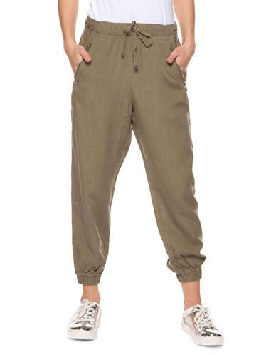 Dex Pull-On Capri Jogger Pants-OLIVE-Medium