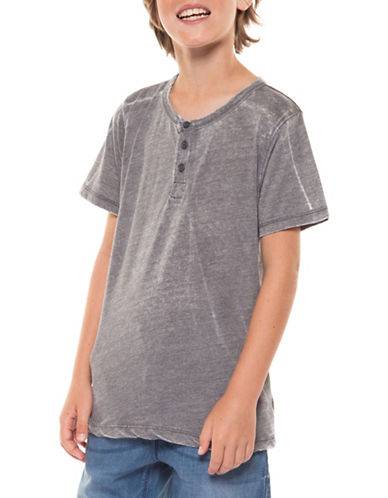 Dex Classic Faded Tee-GREY-Small