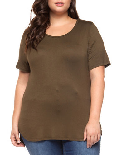 Dex Plus Short-Sleeve Tee-KHAKI-1X