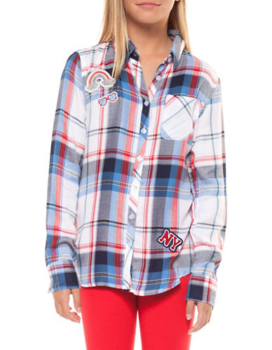 Dex Plaid Collared Shirt-GREY-7-8