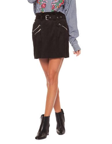 Dex Belted Mini Skirt-BLACK-X-Small