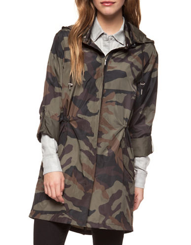Dex Camo Print Windbreaker Jacket-PINK-Large
