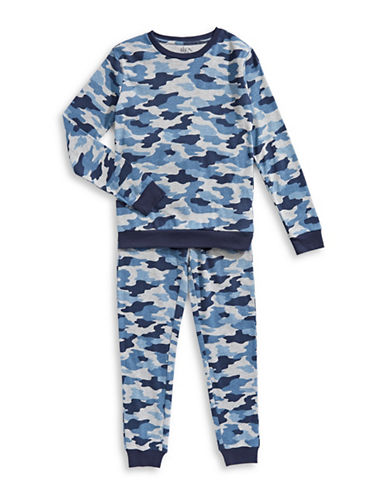 Dex Printed Two-Piece Pyjama Set-GREY-12