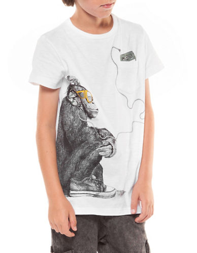 Dex Monkey Crew Neck Tee-WHITE-X-Large