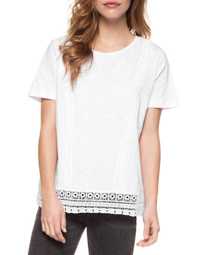 Dex Crochet Trim Tee-WHITE-Large 89910792_WHITE_Large