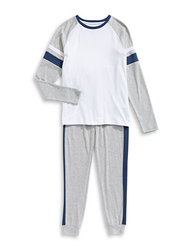 Dex Two-Tone Two-Piece Pyjama Set-GREY-10