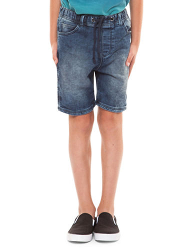 Dex Pull-On Denim Shorts-INDIGO-Large