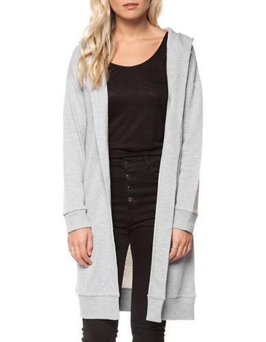 Dex Hooded Open Cardigan-GREY-Medium